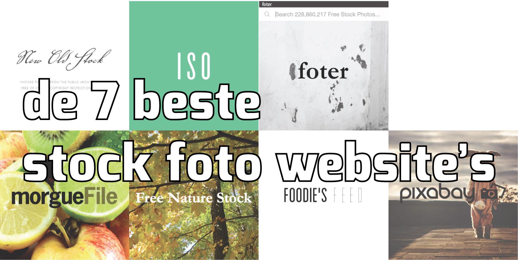 De 7 beste (gratis) stockfoto websites