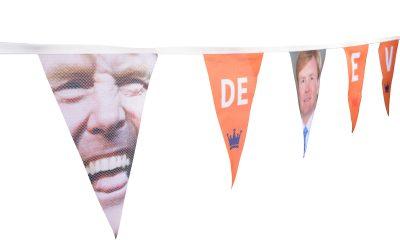 Een vlaggenlijn, een feestje op zichzelf