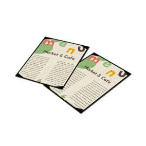 menukaarten op waterbestendig papier