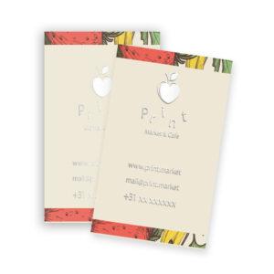originele visitekaartjes met foliedruk